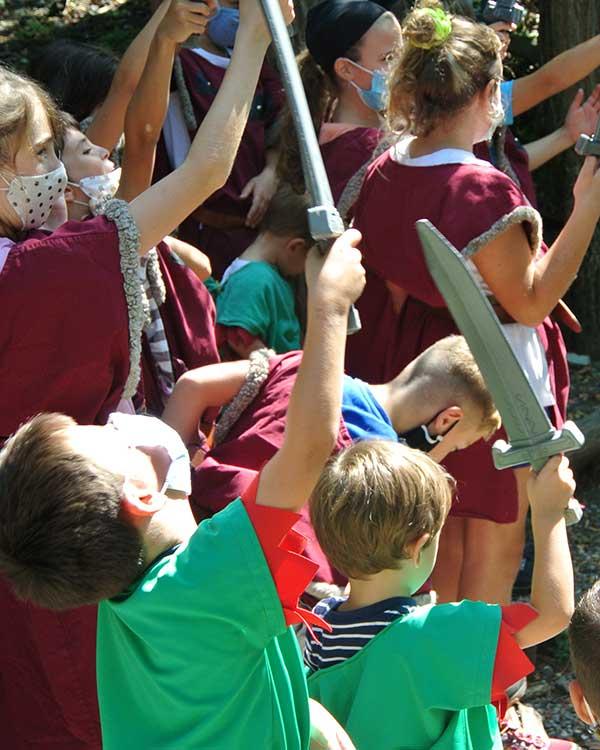 bambini costume medievale